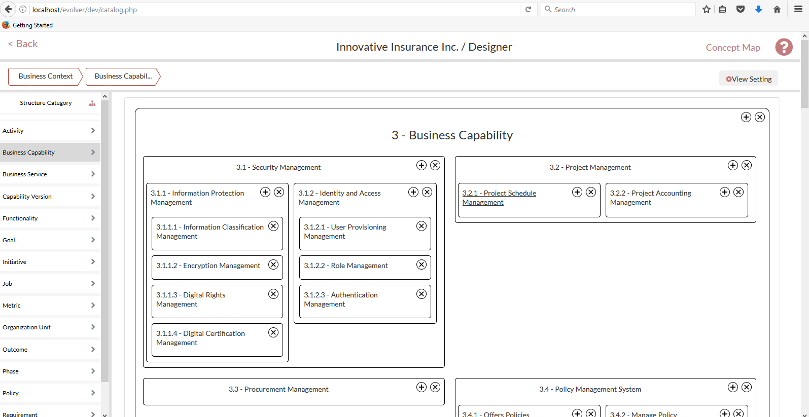 how to create a business capability map
